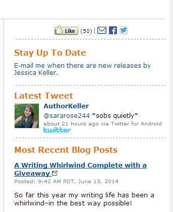 Author Keller Amazon page
